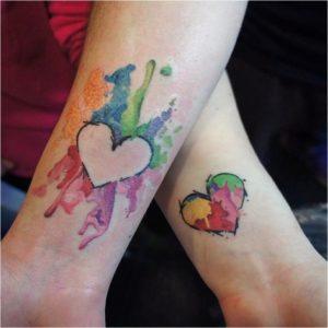 двойные татуировки для влюбленных