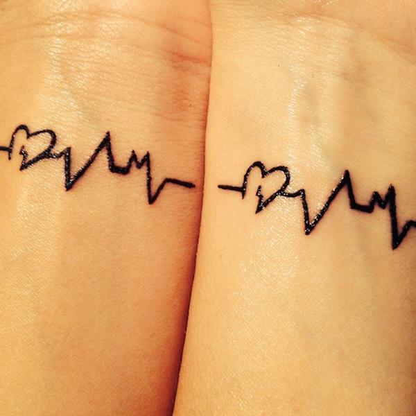парные татуировки на запястье