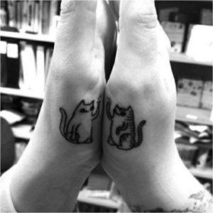 парная татуировка коты