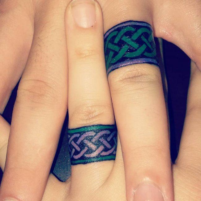 парная татуировка кольца