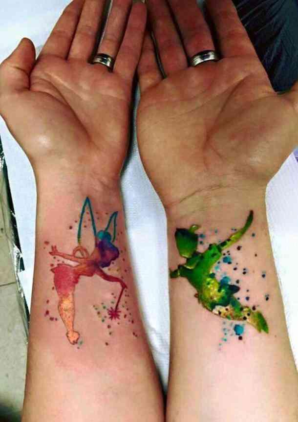 парные татуировки для двоих питер пен