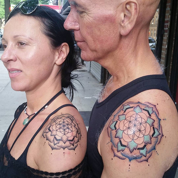 парные мандалы тату