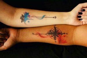 эскизы парных татуировок для влюбленных