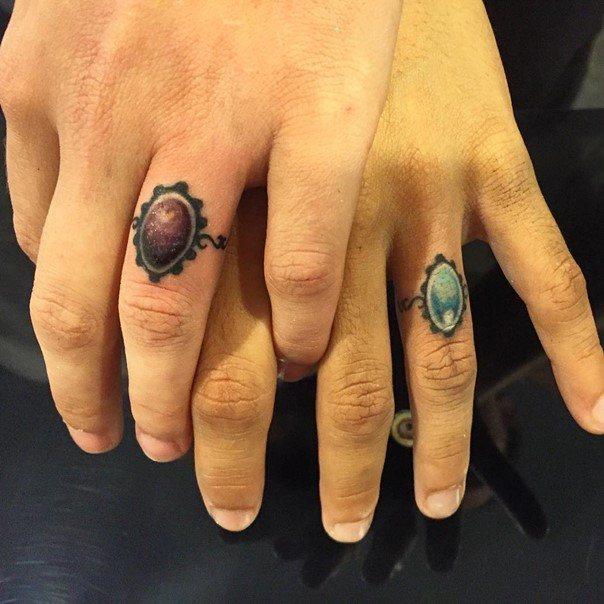 татуировки для двоих влюбленных фото