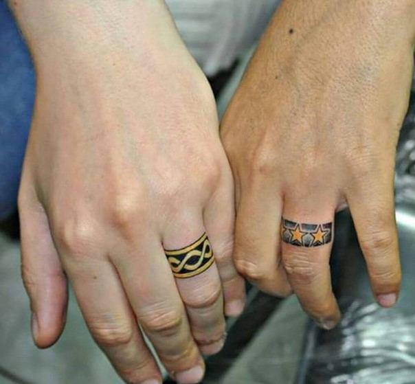 татуировки для влюбленных пар со смыслом фото